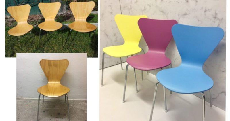 Vorher-Nacher-ausaltmachneu-Vintage-Stühle-gelb-rot-blau