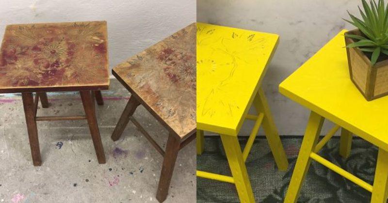 Möbel-Upcycling-Vorher-Nachher