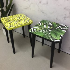 Annis Art and Living-Beistelltische-Hocker-Vintage-Upcycling-Wien-individualistisch