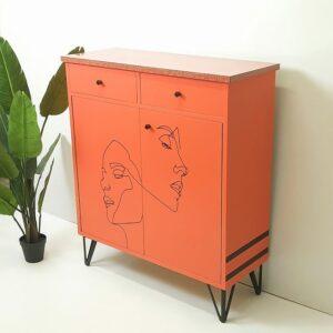 Anni's Art and Living-Lineart-Schrank-Highboard-Schuhschrank-Möbeldesign-ausaltmachneu-modern-Vintagemöbel-Retromöbel